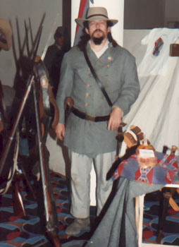 Bill in Confederate Officer's Uniform